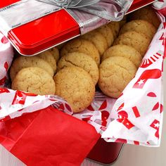 Eggnog Snickerdoodles Recipe -It simply wouldn't be Christmas without these melt-in-your-mouth cookies on my platter! They have a lovely eggnog flavor and look great with their crunchy tops. The aroma while they bake is as delectable as their taste.