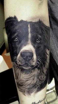 Awesome dog tattoo