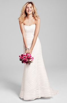 Anne Barge Bridal Gown & Accessories  'Waverly,' a strapless A-line gown retailing for 5,170$, is m