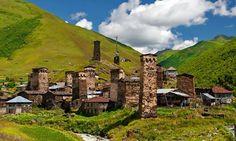 #Ushguli is a community of four villages located at the head of the Enguri gorge in #Svaneti, Georgia #travelwithus #VIPToursGeorgia