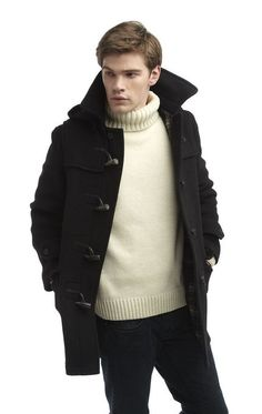 Mens London Duffle Coat -- Black -- 40