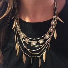 Make a statement when you enter the room with this stunning look. I love that the fringe piece can be worn as a necklace OR a fashionable headpiece! Shown here: Garland fringe necklace $118 paired with the Reese sparkle necklace $59 NEED IT? Get it NOW via http://stelladot.com/JudyDavis