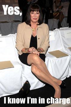 Anjelica Huston, the boss.