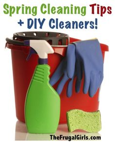 7 Simple Spring Cleaning Tips and DIY Cleaners! ~ from TheFrugalGirls.com #diy
