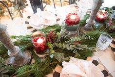 Hosting dinner parties is one of my favorite things to do- I love any opportunity to gather around a table and share a meal with friends and family. Given the season, I'd venture to guess that you have some entertaining. Christmas Party Decorations, Christmas Tablescapes, Christmas Wreaths, Christmas Crafts, Holiday Decor, Parties Decorations, Christmas Tree, Magnolia Homes, Magnolia Market