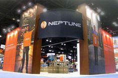 MultiQuad exhibit booth custom designed for Neptune.  www.multiquad.com