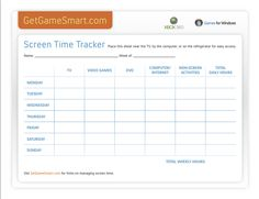 A screen-time tracker is great for back-to-school time. Helps your kids balance school work, free time, and screen time.