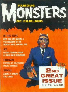 """Famous Monsters of Filmland Vol 1 #2, 1958.""  Mine!"