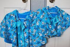 Blue Minky & Flannel Reversible Cape / Caplet by YouFascinateMeSo
