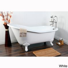 Overstock | Vintage Slipper 61-inch Cast-iron Clawfoot Tub with 7-inch Drillings $1519