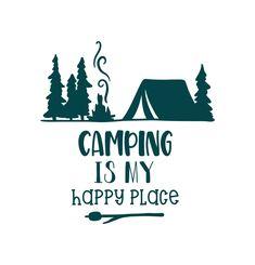 Camping Is My Happy Place Iron On Vinyl Or Glitter Vinyl Heat T-shirt Transfer - Vinyl Shirt - Ideas of Vinyl Shirt - Camping Is My Happy Place Iron On Vinyl Or Glitter Vinyl Heat T-shirt Transfer by MyCreativeOutletTime on Etsy