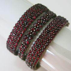 Antique Victorian Bohemian Garnet Bangle Bracelets Set Lot in Jewelry & Watches, Vintage & Antique Jewelry, Costume | eBay