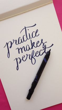 Practice Makes Perfect Hand Lettering