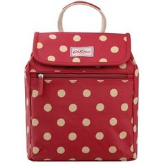 Cath Kidston Button Spot Backpack, Berry