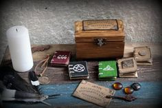 Witchcraft set Witch Miniatures Set Gothic Witches Altar Set of 5 witchcraft books Chest Ouija board Witch Spell Occult Pagan Wicca storage Wicca, Pagan, Altered Cigar Boxes, Witchcraft Books, Haunted Dollhouse, Occult Symbols, Witch Spell, Unisex Gifts, Wooden Chest