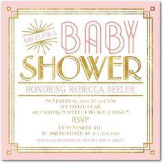 Darling Deco: Tea Rose - Baby Shower Invitations in Tea Rose   Magnolia Press