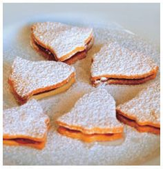 Try these delicious Shortbread Bells by Hulett's. Two pieces of shortbread sandwiched together with jam to create a tasty end product. Cookie Recipes, Snack Recipes, Snacks, Shortbread Biscuits, Shaped Cookie, Strawberry Jam, Kitchen Recipes, Tray Bakes, Almond