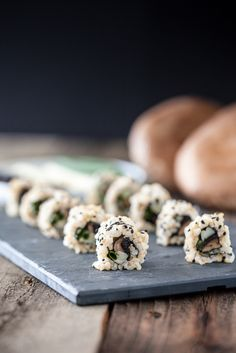 Smoky Roasted Portobello Sushi Rolls from @Kristy | Keepin' It Kind