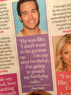 Nice parenting, Pete. Your son is going places. Maybe not birthday parties, but places.