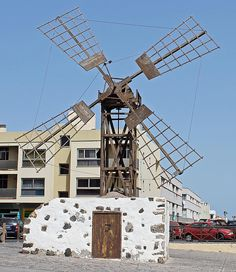 Windmill in Coralejo Fuerteventura by Tony Murtagh Tenerife, Water Wheels, Wind Mills, Wind Power, Le Moulin, Lighthouses, Abandoned Places, Wind Turbine, Sailing
