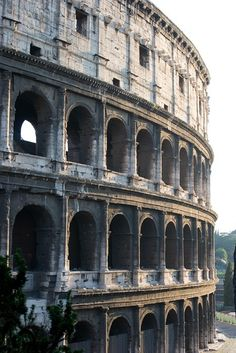 The Colosseum in Rome, Italy . . . built of concrete and stone. It is considered one of the greatest works of Roman architecture and Roman engineering. Impressive!