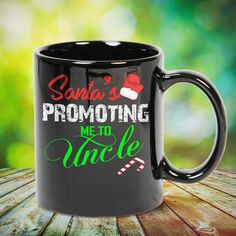 Santa is Promoting Me to Uncle Great t-shirts, mugs, bags, hoodie, sweatshirt, sleeve tee gift for aunt, auntie from niece, nephew or any girls, boys, children, friends, men, women on birthday, mother's day, father's day, Christmas or any anniversaries, holidays, occasions.