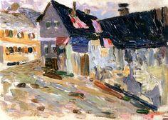 "bofransson: "" Kallmünz, Rainy Day Wassily Kandinsky - 1903 """