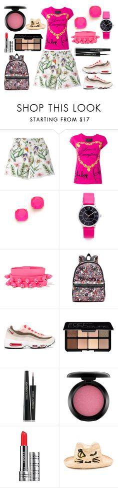 """""""Love"""" by hillarymaguire ❤ liked on Polyvore featuring Ermanno Scervino, Philipp Plein, Kate Spade, Marc Jacobs, Valentino, LeSportsac, NIKE, Smashbox, Dolce&Gabbana and MAC Cosmetics"""