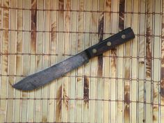 Kitchen Knife Old Carbon Steel Blade Chef Knife Robinson Full Tang
