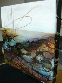 Black Ivory - Side View by Alicia Tormey, via Flickr  Encaustic work
