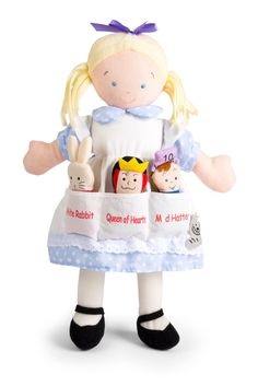 Dolls And Bears: North American Bear Co Dolly Pockets Alice In Wonderland And 3 Finger Puppets BUY IT NOW ONLY: $29.99