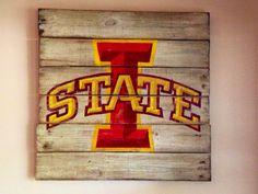 Iowa State University Wall Hanging by PalletsandPaint on Etsy, $40.00