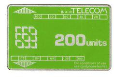 BT 200 units card phone. Short track, no notch. Control number 548 179 (6 digits)