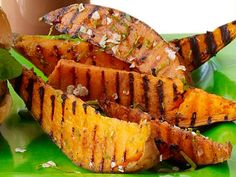 Get Grilled Sweet Potatoes with Lime and Cilantro Recipe from Food Network