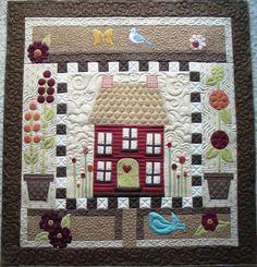 .Quiltscapes. house quilt