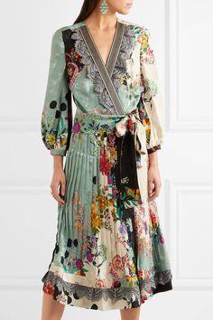 Etro | Printed jacquard wrap dress | NET-A-PORTER.COM