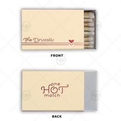Modern Heart Flourish Match | 30 Strike Matchbook | For Your Party