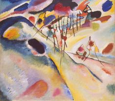Wassily Kandinsky | Landscape | oil on canvas | 1913 ☆ Василий Кандинский | Пейзаж | холст, масло | 1913 г.; Hermitage, St Petersburg