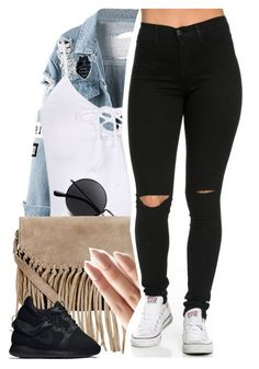 """""""I need every bad chick up in Equinox """" by drakeschild ❤ liked on Polyvore featuring Accessorize, NIKE and WardrobeStaples"""