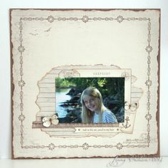 Layout by Jenny, featuring the Shoreline Treasures collection