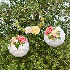 DIY Flower Paper Lanterns Tutorial - When Wedding Bells Ring - Deco Pastel, Deco Floral, Floral Wedding, Diy Wedding, Wedding Flowers, Garden Wedding, Tacky Wedding, Wedding Ceremony, Wedding Bells