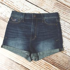 Hollister Jean High Rise Shorts Brand new never worn, without tags. No trades. Please don't ask for model pictures, these don't even come close to fitting me / bundle for a discount! Hollister Shorts Jean Shorts