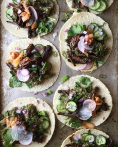 Slow cooker Korean Skirt Steak Tacos with Salsa Verde to heal the pain of last nights debate. #thejudylab #tacotuesday @tacos