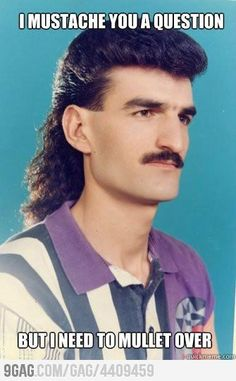 """""""Turkish man living in Dusseldorf sporting a mullet"""" - Has anyone studying abroad in Istanbul ever seen anyone sporting this look? We find that a little doubtful, though the look is pretty rad! Memes Humor, Funny Memes, Funny Pranks, I Love To Laugh, Make Me Smile, Haha Funny, Hilarious, Funny Stuff, Funny Things"""