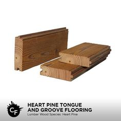 Heart Pine Tongue and Groove Flooring by ChicagoFabrications