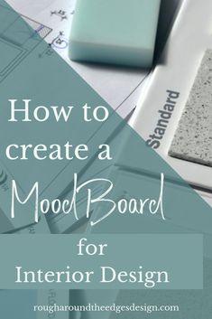 How to Create a Mood Board / Design Board for Interior Design (Free) - Interior Design Courses, Interior Design Boards, Interior Design Business, Moodboard Interior Design, Mood Board Interior, Home Interior, Photoshop, Web Design, Design Files