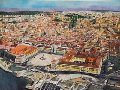 PORTUGAL: LISBON [ Aerial View ]