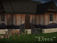 """The Medieval Smithy SIMS 2: Wall Set """"Elves"""""""