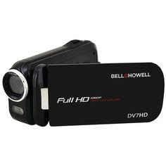 Bell+howell 16.0 Megapixel Slice Ii Dv7hd Ultraslim 1080p Hd Camcorder (black) (pack of 1 Ea)
