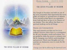 3 The Seven Pillars of Wisdom;  Atlantis Cards; Diana Cooper
